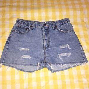 Pants - Vintage jean shorts